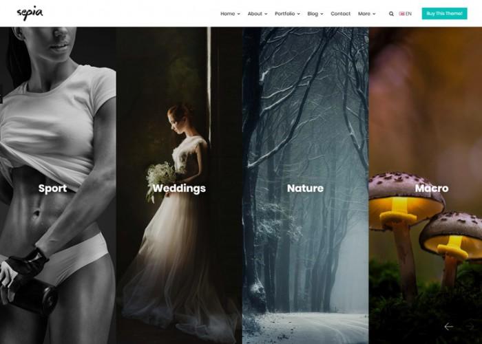 Sepia – Premium Responsive Photography Portfolio Drupal 8 Theme