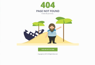 Shipwrecked – Premium Responsive 404 Page HTML5 Template