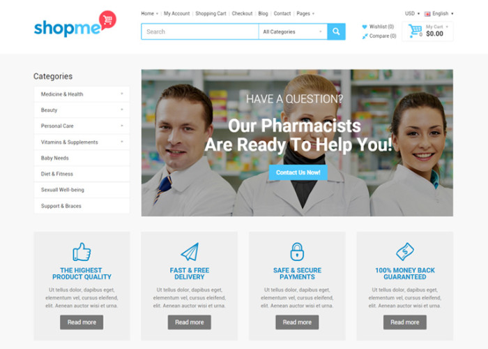 ShopMe – Premium Responsive Multipurpose Opencart Theme