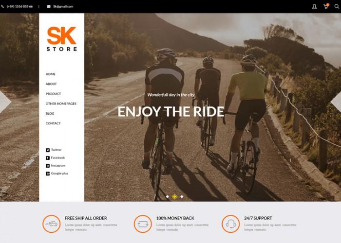 SK Store – Premium Responsive Magento Theme for Sport Stores