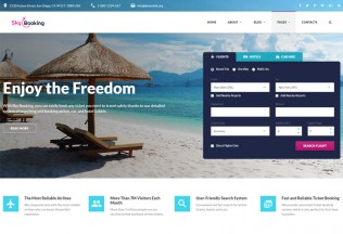 Sky Booking – Premium Responsive Travel Online HTML5 Template