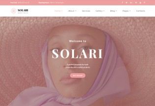 Solari – Premium Responsive Beauty Salon HTML5 Template