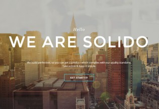 Solido – Premium Responsive One Page Parallax HTML5 Template