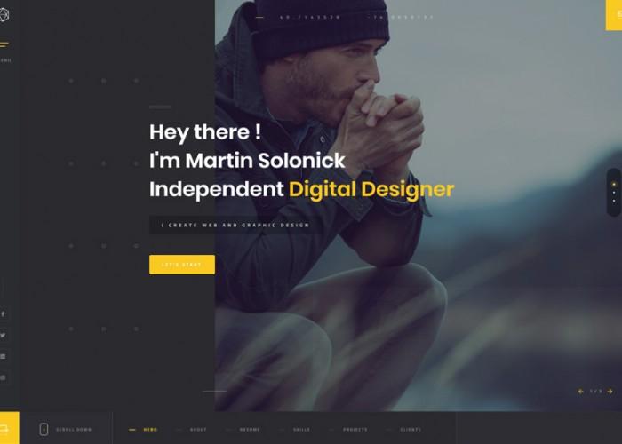 Solonick – Premium Responsive Personal Portfolio WordPress Theme