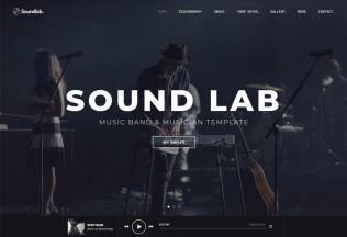 Soundlab – Premium Responsive Music Band & Musician HTML5 Template