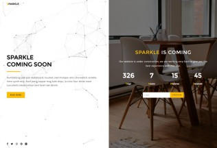 Sparkle – Premium Responsive Coming Soon HTML5 Template