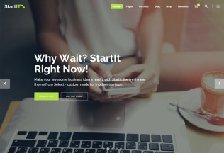 Startit – Premium Responisve Startup Business WordPress Theme