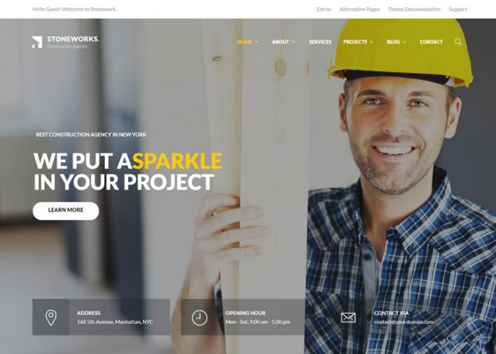 Stoneworks – Premium Responsive Construction Architect Drupal Theme