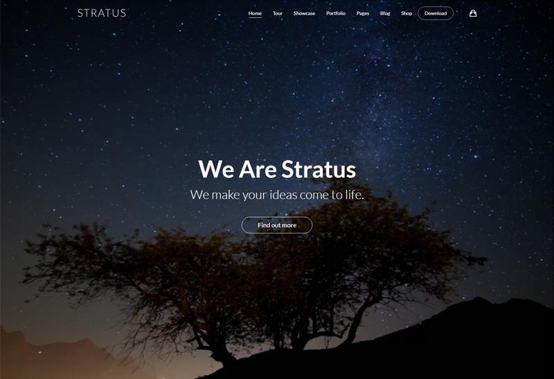 Stratus Premium Responsive App Saas Amp Product Showcase