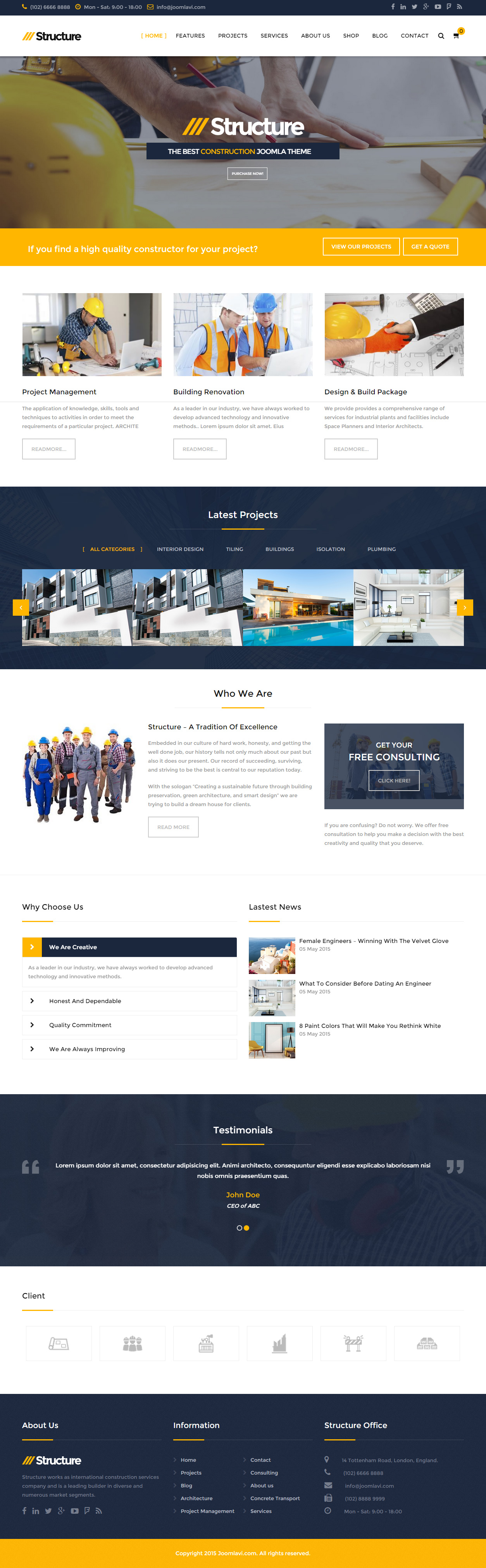 30 best joomla business templates 2017 responsive miracle structure joomla business templates accmission Choice Image
