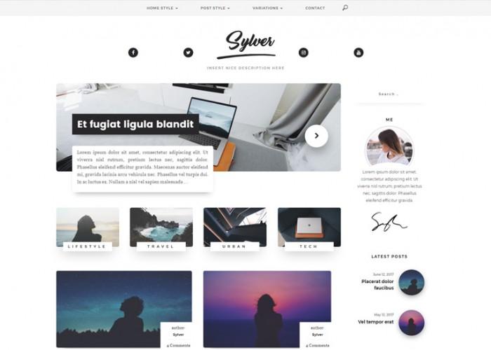 Sylver – Premium Responsive Blog WordPress Theme