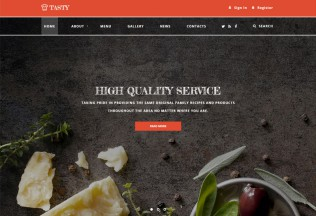 Tasty – Premium Responsive Cafe and Restaurant HTML5 Template