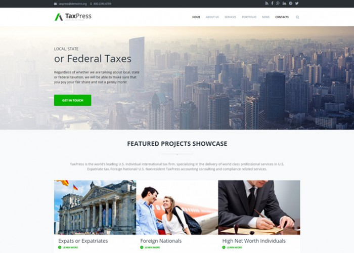 TaxPress – Premium Responsive Corporate Business Drupal Theme