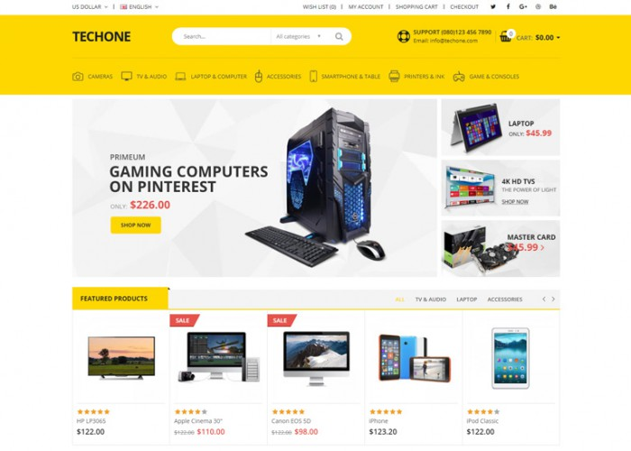 TechOne – Premium Responsive Electronic OpenCart Theme