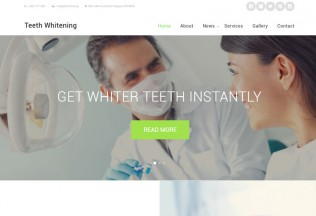 Teeth Whitening – Premium Resposnive Dentist HTML5 Template