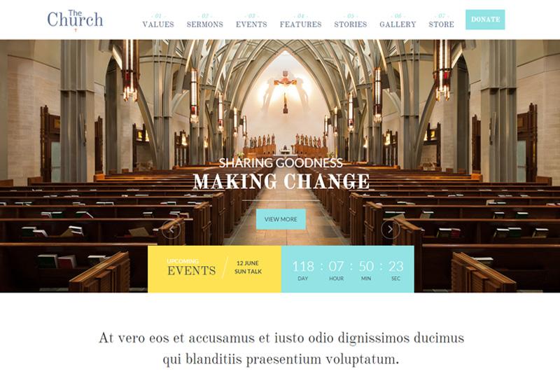 The Church Premium Responsive Church Html5 Template