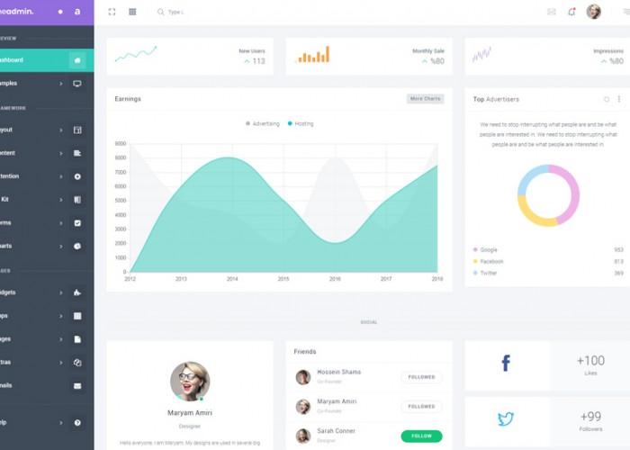 TheAdmin – Premium Responsive Bootstrap 4 Admin Dashboard HTML5 Template