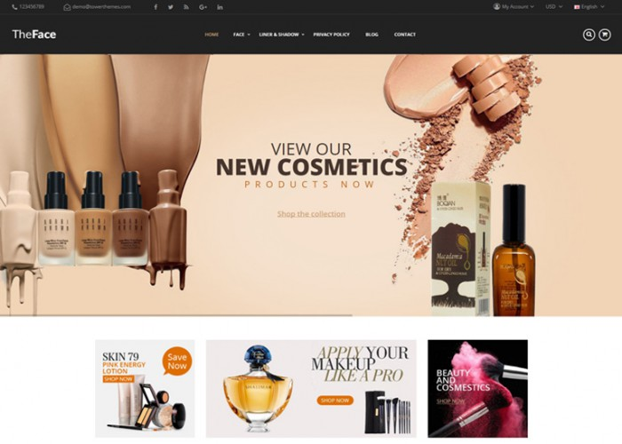 TheFace – Premium Responsive Cosmetics Opencart Theme