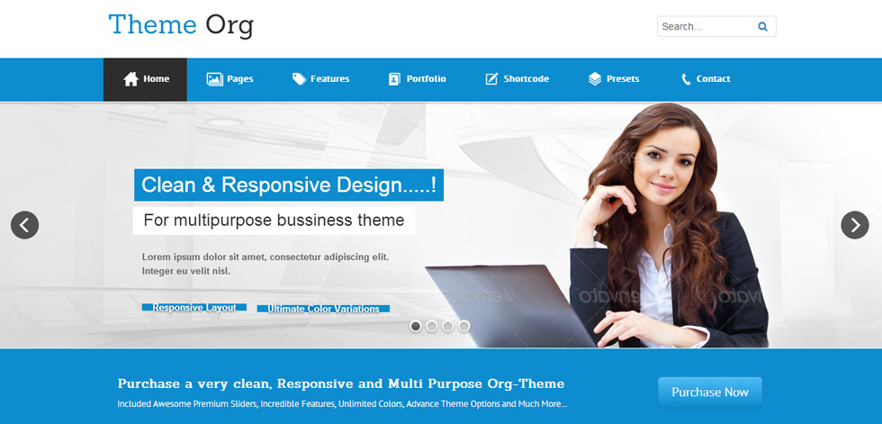 handpicked premium responsive themes and templates homepage