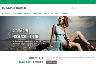 Transformer – Premium Responsive PrestaShop Theme