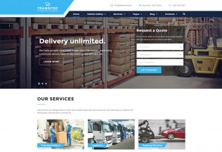 Transitec – Premium Responsive Transportation HTML5 Template