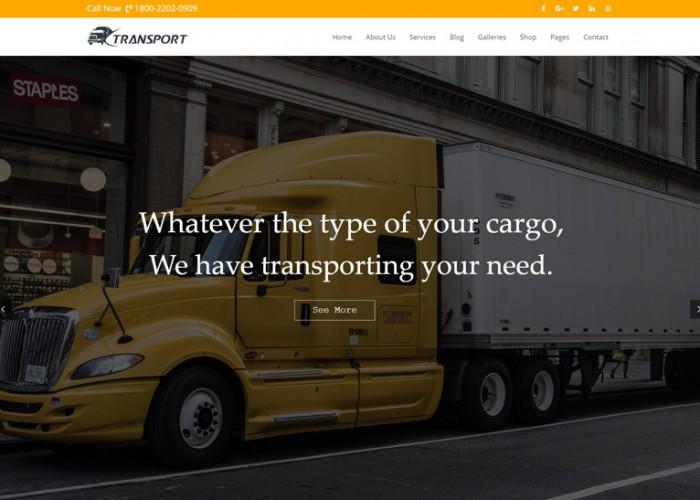 Transport – Premium Responsive Transport & Logistics WordPress Theme
