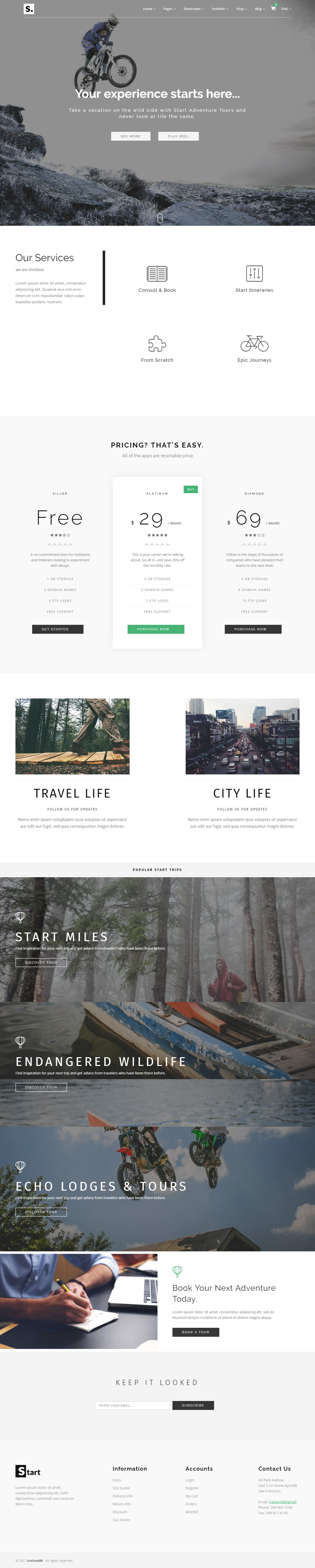 25+ Best Travel HTML5 Templates 2017 - Responsive Miracle