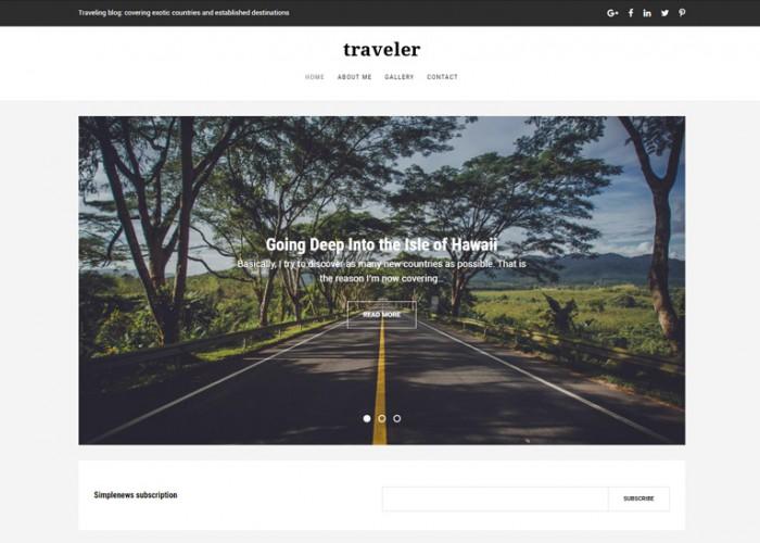 Traveler – Premium Responsive Travel Blog Drupal Template