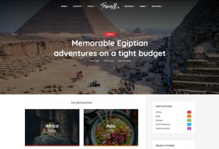 Trawell – Premium Responsive Travel WordPress Theme