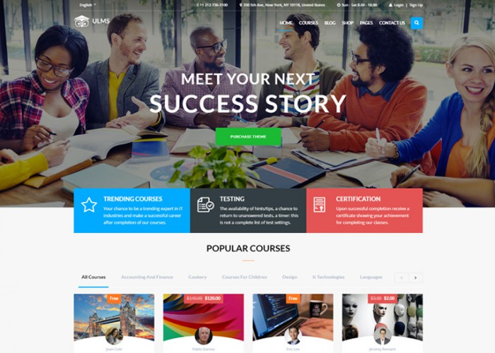 ULMS – Premium Responsive Learning Management System WordPress Theme