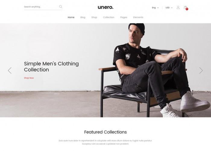 Unero – Premium Responsive Minimalist AJAX WooCommerce WordPress Theme