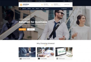 Universal – Premium Responsive Business Consulting WordPress Theme
