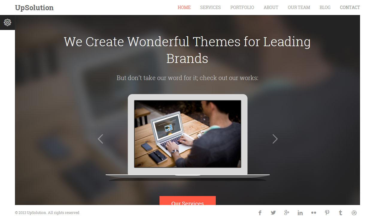 upsolution - premium responsive onepage html5 template - free demo, Presentation templates