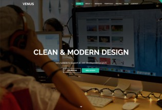 Venus – Premium Responsive One Page Parallax HTML5 Template