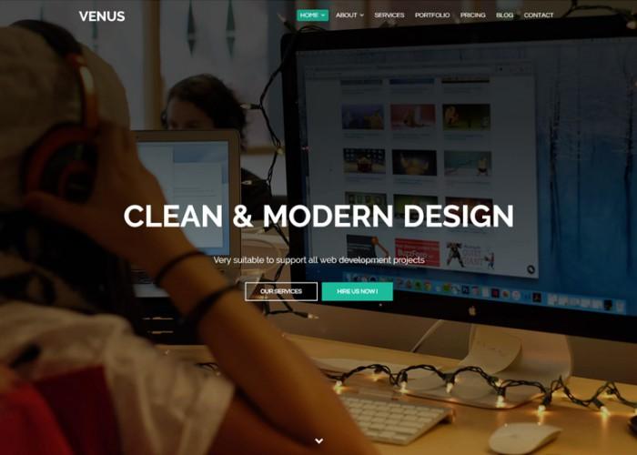 Venus – Premium Responsive One Page Parallax HTML5 Template