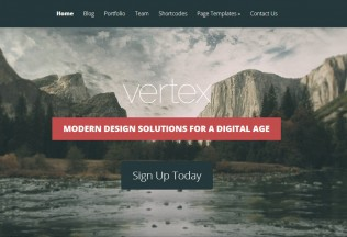 Vertex – WordPress Premium Responsive Theme with Parallax Scrolling
