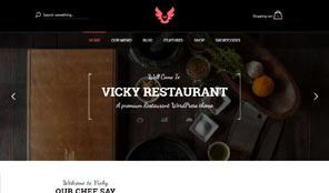 Vicky Premium Responsive Restaurant Amp Cafe Wordpress Theme