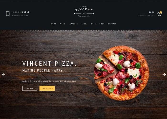 Vincent – Premium Responsive Cafe HTML5 Template
