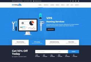 VirtuSky – Premium Responsive Web Hosting and WHMCS WordPress Theme