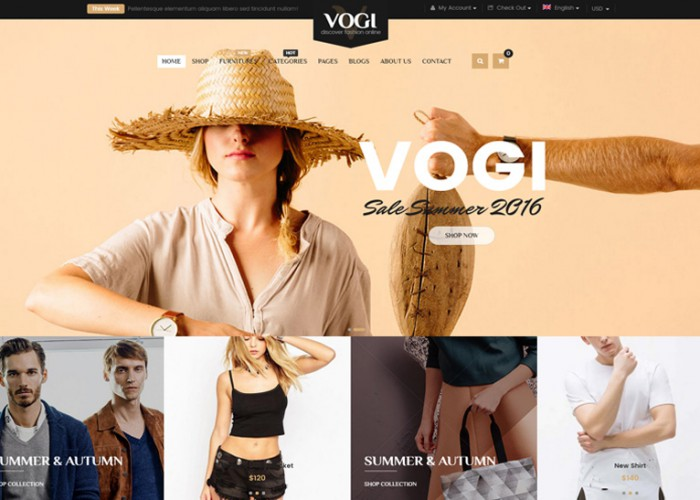 Vogi – Premium Responisve MultiPurpose WooCommerce WordPress Theme