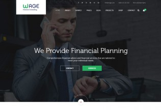 Wage – Premium Responsive Business and Finance WordPress Theme