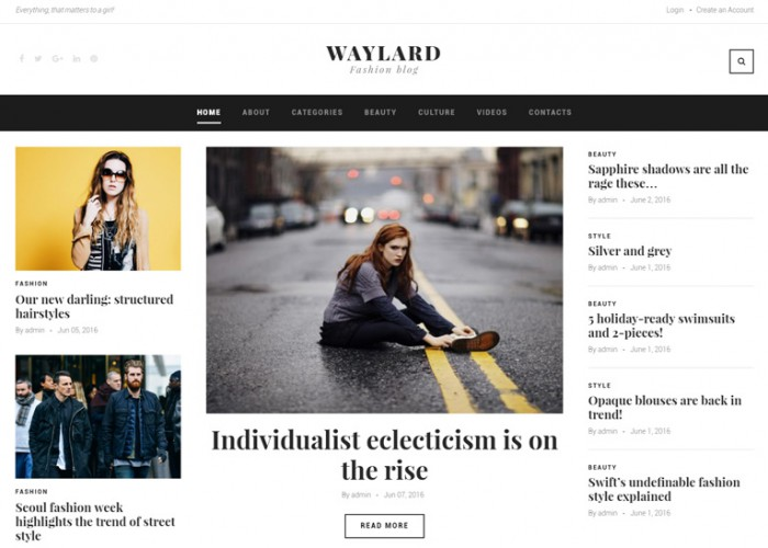Waylard – Premium Responsive Fashion Blog & Magazine WordPress Theme