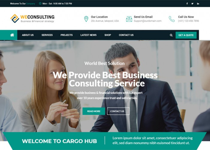 WECONSULTING – Premium Responsive Bootstrap Drupal 8.5 Theme