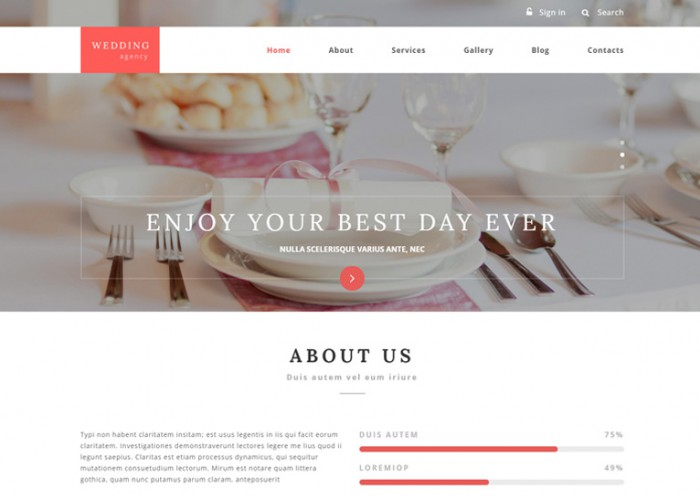 Wedding Agency – Premium Responsive Drupal Template