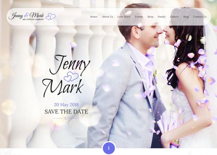 Wedding Invitation – Premium Responsive Couple Event HTML5 Template