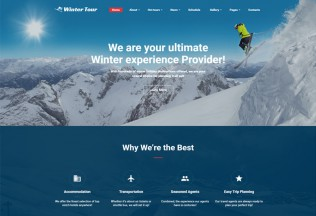 Winter Tour – Premium Responsive Travel Agency HTML5 Template
