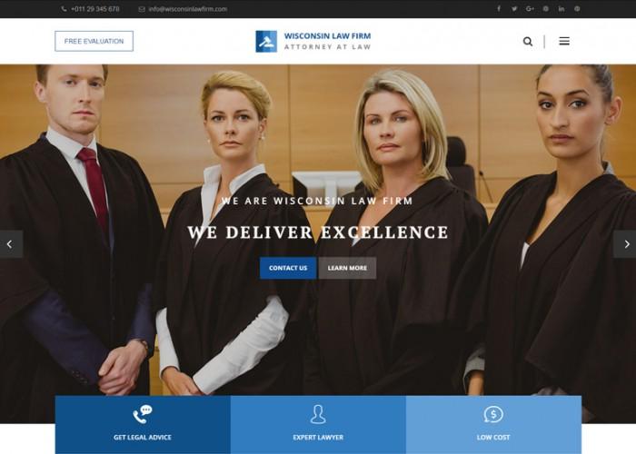 Wisconsin – Premium Responsive Law Firm WordPress Theme