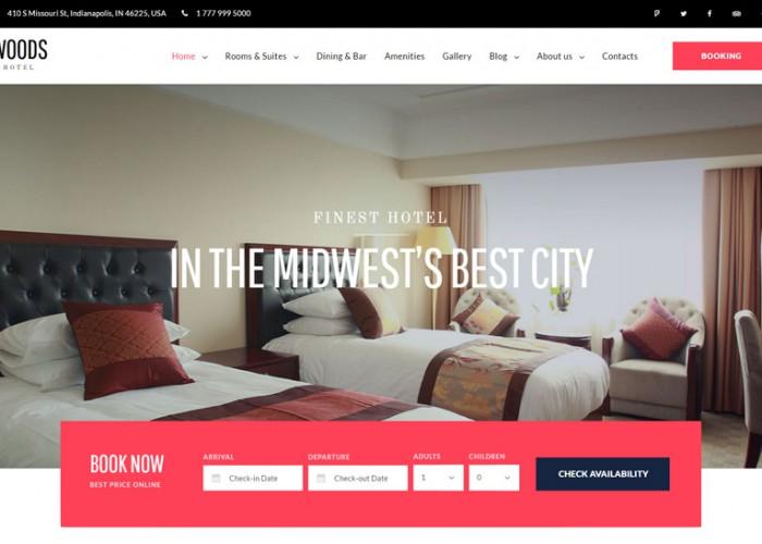 Woods Hotel – Premium Responsive Hotel & Resort WordPress Theme