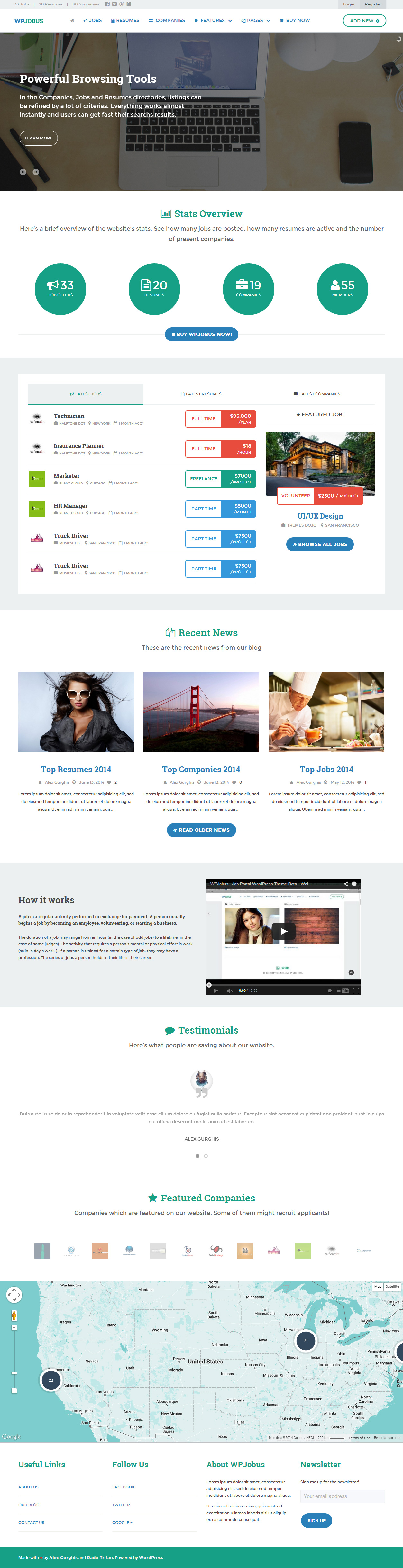 best wordpress job board themes responsive miracle wpjobus wordpress job board theme