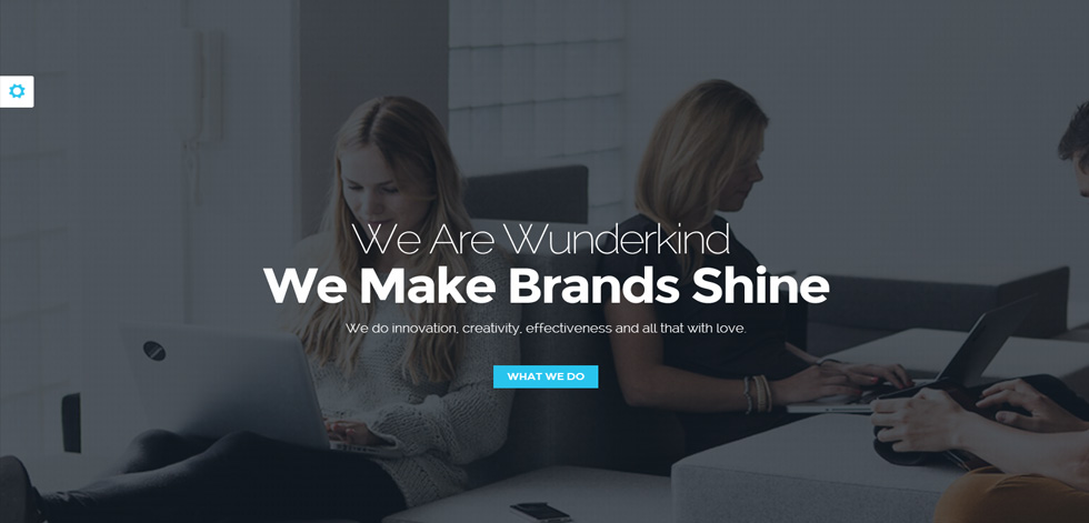 Wunderkind premium responsive one page parallax html5 for Html welcome page template